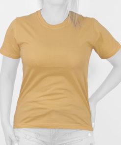 تیشرت زنانه زرد خردلی