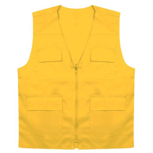 جلیقه چهار جیب زرد